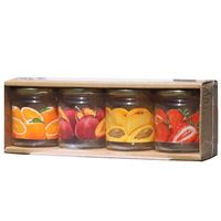 314ml Set di vasetti in vetro a stampa per marmellate Twist Off 66