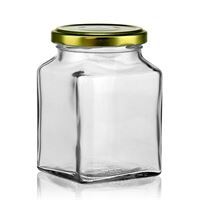 314ml rectanlage jar with Twist Off 63