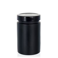 "327ml black design jar ""Aurora"", black"