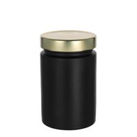 "327ml black design jar ""Aurora"", gold"