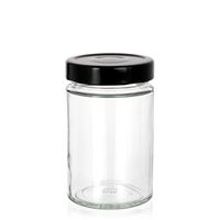 "327ml clear design jar ""Aurora"" black"