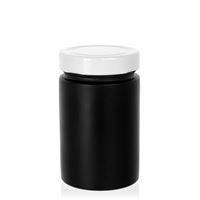 """327ml czarny sloik zaprojektowany """"Aurora"""" bialy"""