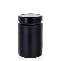 """327ml czarny sloik zaprojektowany """"Aurora"""" czarny"""