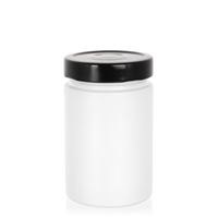 "327ml white design jar ""Aurora"", black"