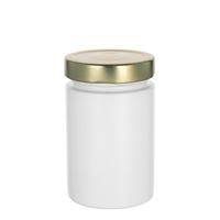 "327ml white design jar ""Aurora"", gold"