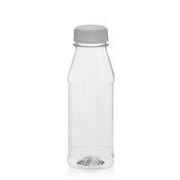 "330ml PET Weithalsflasche ""Milk and Juice Carree"" weiß"