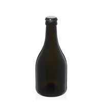 "330ml antiekgroene bierfles ""Horta"" kroonkurk zwart"