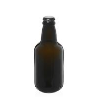 "330ml ancient green beer bottle ""Era"" black crown cork"