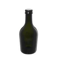 """330ml antyczna zielona butelka na piwo """"Butterfly"""" z kapsel czarny"""