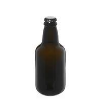 """330ml antyczna zielona butelka na piwo """"Era"""" z kapsel czarny"""