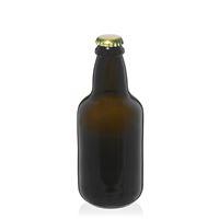 """330ml antyczna zielona butelka na piwo """"Era"""" z kapsel zloty"""