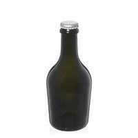 "330ml botella de cerveza verde antigua ""Butterfly"" chapa argéntea"