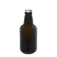 "330ml botella de cerveza verde antigua ""Era"" chapa argéntea"
