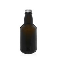 """330ml bottiglia verde antico per birra """"Era"""" tappo a corona argento"""