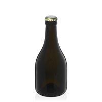 """330ml bottiglia verde antico per birra """"Horta"""" tappo a corona oro"""