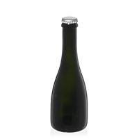 """330ml bottiglia verde antica per birra """"Tosca"""" tappo a corona argento"""