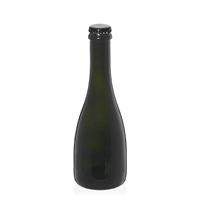 """330ml bottiglia verde antica per birra """"Tosca"""" tappo a corona nero"""