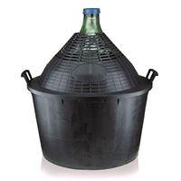 34-litrowy gąsior z plastikowym koszem, okrągła