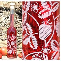 """350ml flaske """"Jordbær"""""""