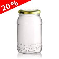 "430ml all-round jar ""Philip"" with Twist Off 66"