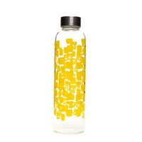 """500ml Glastrinkflasche """"Gelbes Kachelwerk"""""""