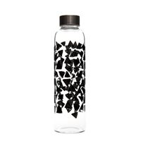 "500ml glass drinking bottle ""Black Lace Carpet"""