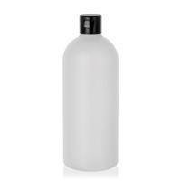"""500ml HDPE-Flasche """"Tuffy"""" natur/schwarz mit Klappscharnier"""