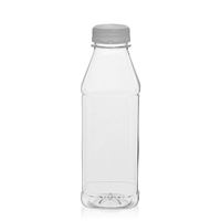 "500ml PET Weithalsflasche ""Milk and Juice Carree"" weiß"