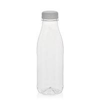 """500ml PET Weithalsflasche """"Milk and Juice"""" weiß"""