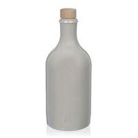 500ml Stengods Flaska med korklock, i vit