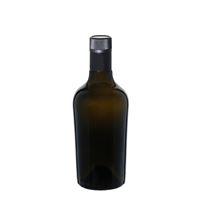 """500ml antiekgroene fles azijn-olie """"Oleum"""" DOP"""