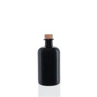500ml bouteille apothicaire en verre noir
