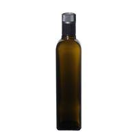 """500ml bouteille verte antique huile-vinaigre """"Quadra"""" DOP"""