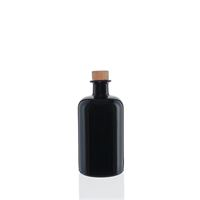 500ml czarna szklana butelka apteczna