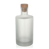 """500ml geeiste (mattierte) Flasche """"Caroline"""" Kork"""