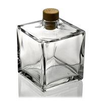 "500 ml glasflaska ""Cube"", genomskinlig"
