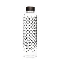 "500ml glass drinking bottle ""Black Star Cluster"""