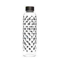 "500ml glass drinking bottle ""Black Whirlwind"""