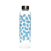 "500ml glass drinking bottle ""Blue Dot World"""