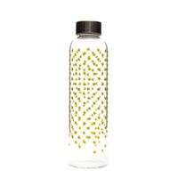 "500ml glass drinking bottle ""Golden Star Cluster"""