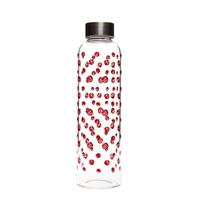 "500ml glass drinking bottle ""red whirlwind"""