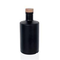"500ml mat-zwarte glazen fles ""Caroline"" kurk"