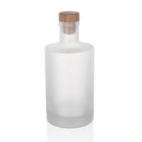 """500ml matte glazen fles """"Caroline"""" kurk"""