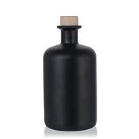 500ml schwarz-mattierte Apothekerflasche
