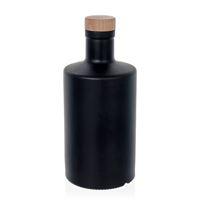 """500ml schwarz-mattierte Flasche """"Caroline"""" Kork"""