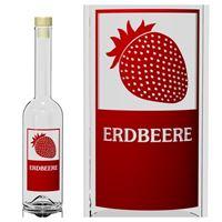 """500ml Opera-Flasche """"Erdbeere"""""""