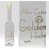 500ml Opera Flasche Goldene Hochzeit