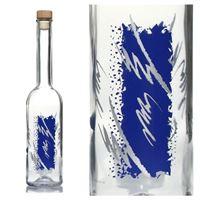 """500ml Opera fles """"zilver-blue"""""""