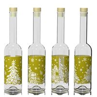 "500ml printed bottle ""golden Christmas"""