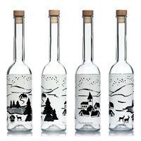 """500ml botella estampada """"Sueño de Invierno blanco"""""""